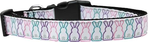 Bunny Tails Nylon Dog Collar Sm