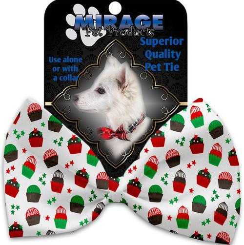 Christmas Cupcakes Pet Bow Tie