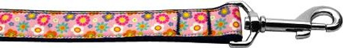 Pink Spring Flowers 1 Inch Wide 4ft Long Leash