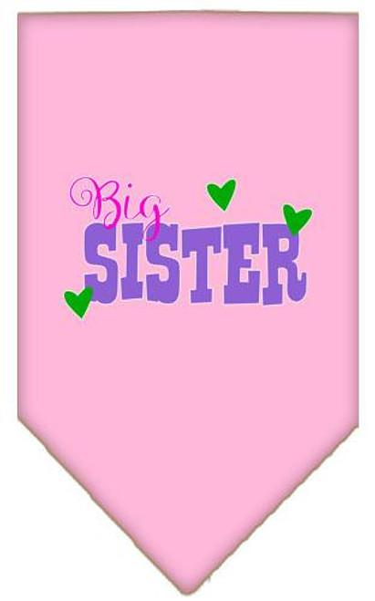 Big Sister Screen Print Bandana Light Pink Small