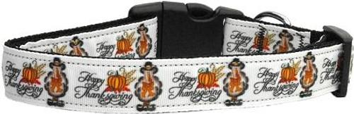Happy Thanksgiving Dog Collar Medium