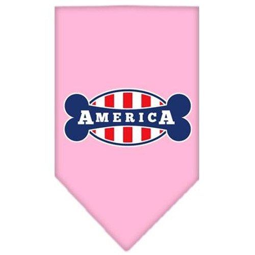 Bonely In America Screen Print Bandana Light Pink Large