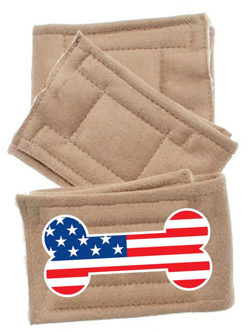 Peter Pads Size Lg Usa Bone Flag 3 Pack