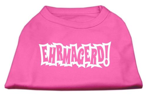 Ehrmagerd Screen Print Shirt Bright Pink Lg (14)