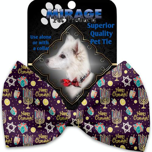 Happy Chanukah Pet Bow Tie