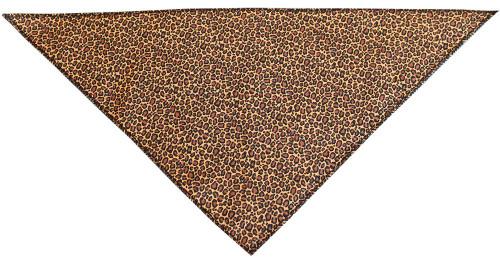 Leopard Print Tie-on Pet Bandana Size Large