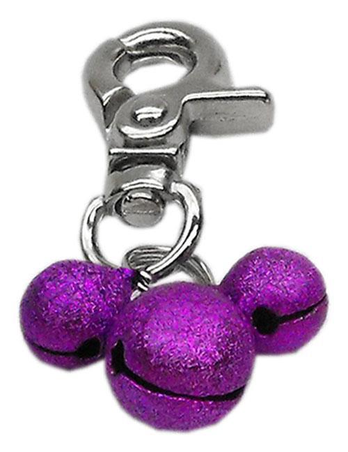 Lobster Claw Bell Charm Purple . - 11-02 PR