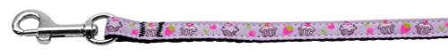 Cupcakes Nylon Ribbon Leash Purple 3/8 Inch Wide 4ft Long