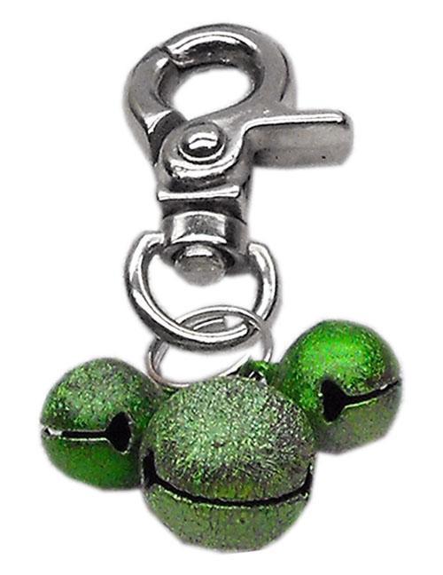 Lobster Claw Bell Charm Emerald Green . - 11-02 EG