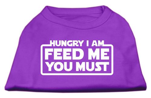 Hungry I Am Screen Print Shirt Purple Xs (8)