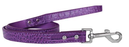 Plain Croc Leash Purple 3/4'' Wide X 4' Long