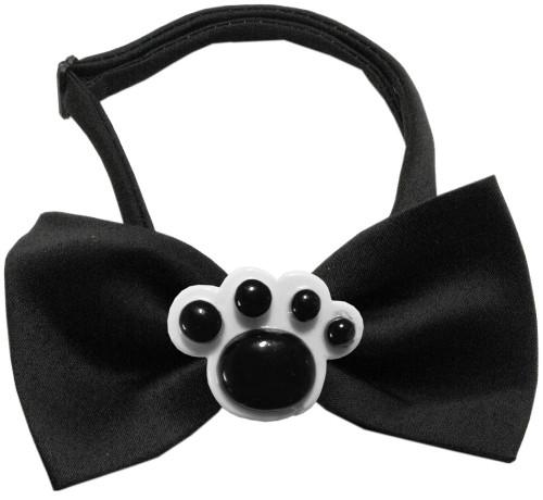 Black Paws Chipper Black Bow Tie