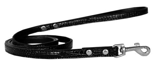 Plain Croc Leash Black 1/2'' Wide X 6' Long