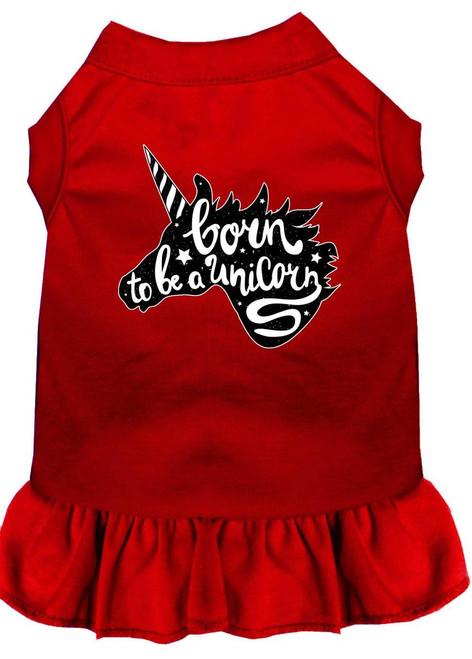 Born To Be A Unicorn Screen Print Dog Dress Red Xxxl (20)