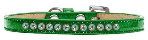 Ab Crystal Size 8 Emerald Green Puppy Ice Cream Collar