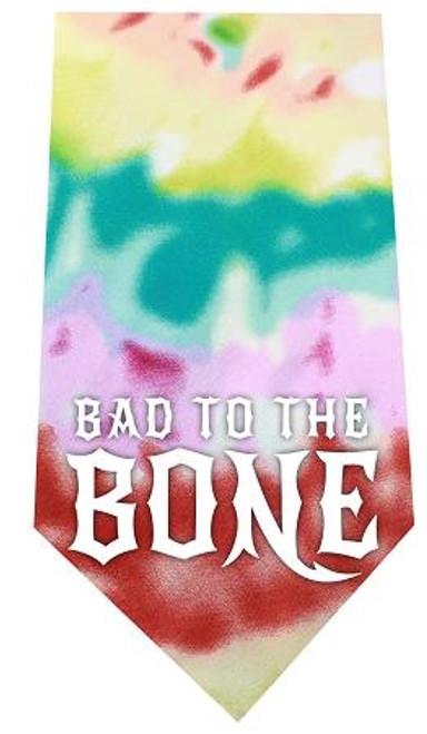 Bad To The Bone Screen Print Bandana Tie Dye