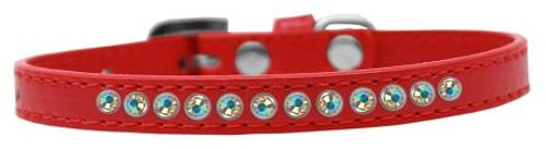 Ab Crystal Size 14 Red Puppy Collar