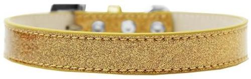 Tulsa Plain Ice Cream Dog Collar Gold Size 12