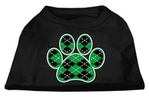 Argyle Paw Green Screen Print Shirt Black Med (12)