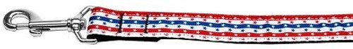 Stars In Stripes Nylon Dog Leash 6 Foot