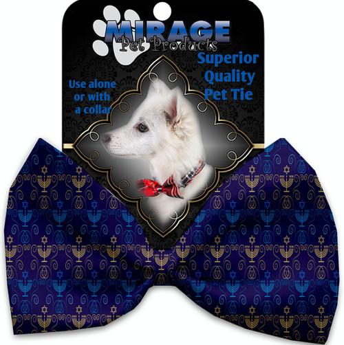 Menorah Madness Pet Bow Tie