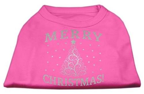 Shimmer Christmas Tree Pet Shirt Bright Pink Sm (10)