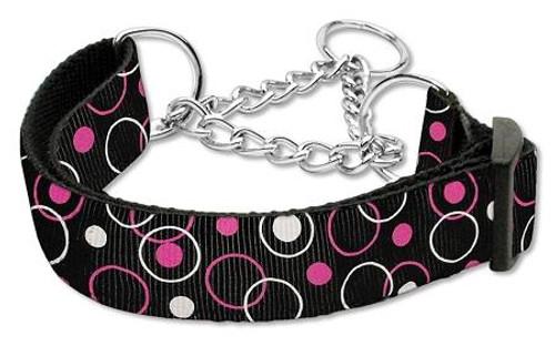 Retro Nylon Ribbon Collar Martingale Black Medium