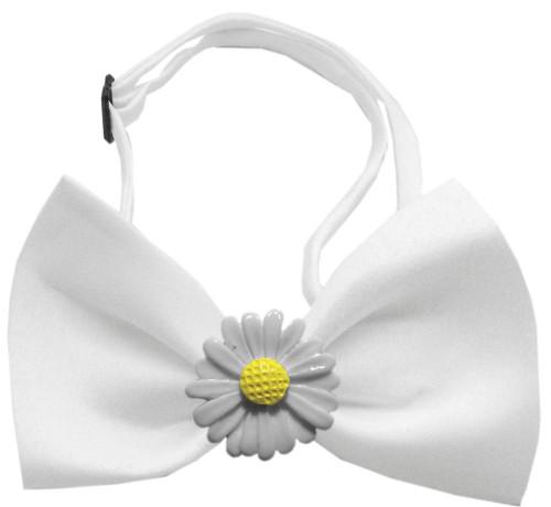 White Daisies Chipper White Bow Tie