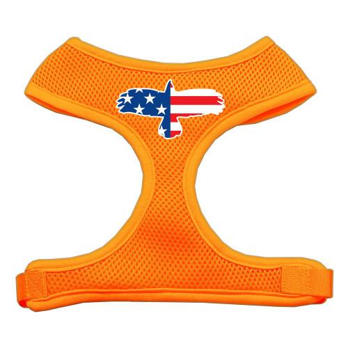 Eagle Flag  Screen Print Soft Mesh Harness Orange Extra Large
