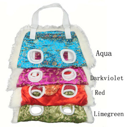 W. Fur Chinese Style Silk Dog Carrier