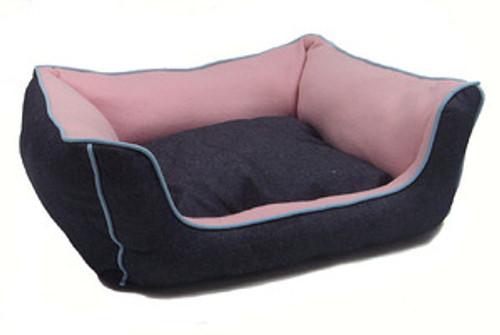 Navy Blue Denim Pets Bed