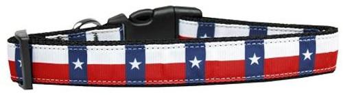 Texas Flag Nylon Dog Collar Medium
