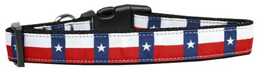Texas Flag Nylon Dog Collar Large