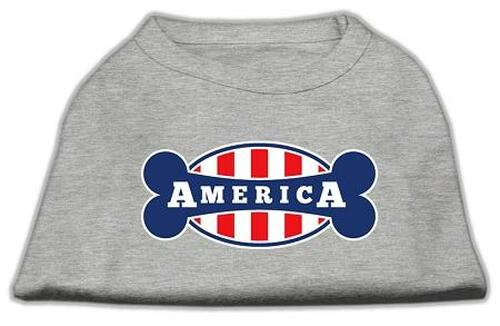 Bonely In America Screen Print Shirt Grey Sm (10)