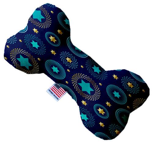 Blue Star Of David 8 Inch Bone Dog Toy