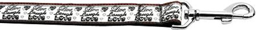 Live Laugh And Love 1 Inch Wide 6ft Long Leash