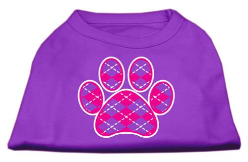 Argyle Paw Pink Screen Print Shirt Purple Lg (14)