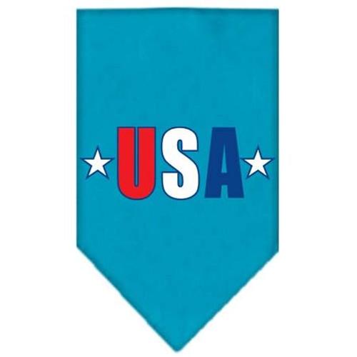 Usa Star Screen Print Bandana Turquoise Large