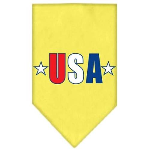Usa Star Screen Print Bandana Yellow Large