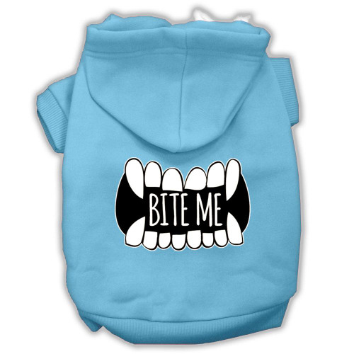 Bite Me Screenprint Dog Hoodie Baby Blue Xxxl(20)