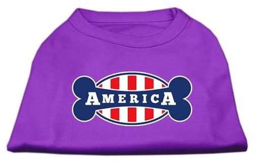 Bonely In America Screen Print Shirt Purple Sm (10)