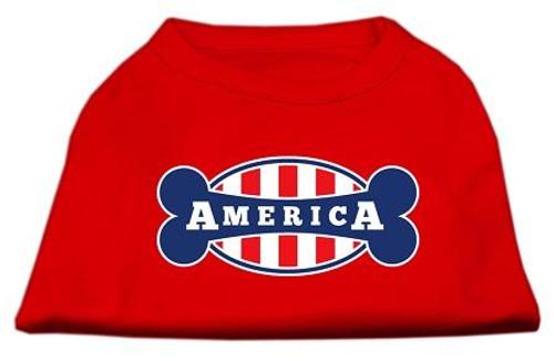 Bonely In America Screen Print Shirt Red Sm (10)