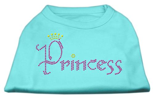 Princess Rhinestone Shirts Aqua S (10)