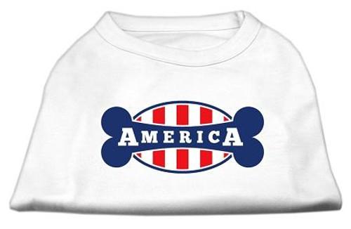 Bonely In America Screen Print Shirt White Sm (10)