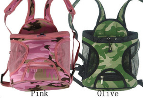 Camo Travel Front Carrier Bag