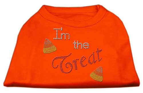 I'm The Treat Rhinestone Dog Shirt Orange Sm (10)