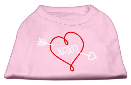 Xoxo Screen Print Shirt Light Pink Xs (8)