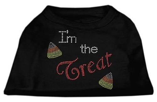 I'm The Treat Rhinestone Dog Shirt Black Sm (10)