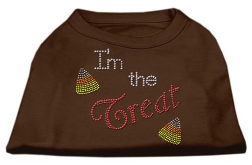 I'm The Treat Rhinestone Dog Shirt Brown Sm (10)