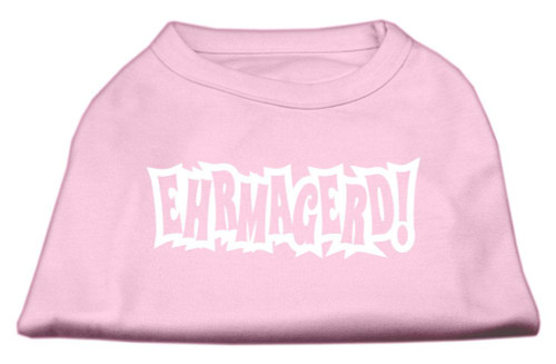 Ehrmagerd Screen Print Shirt Light Pink Lg (14)
